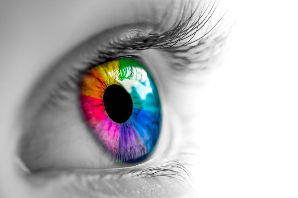 A colourful eye as a symbol.